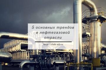 5 основных трендов в нефтегазовой отрасли. Введение.